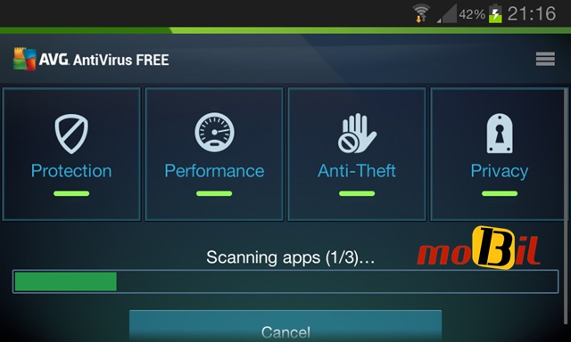 AVG Antivirus Security Scaning mobil13