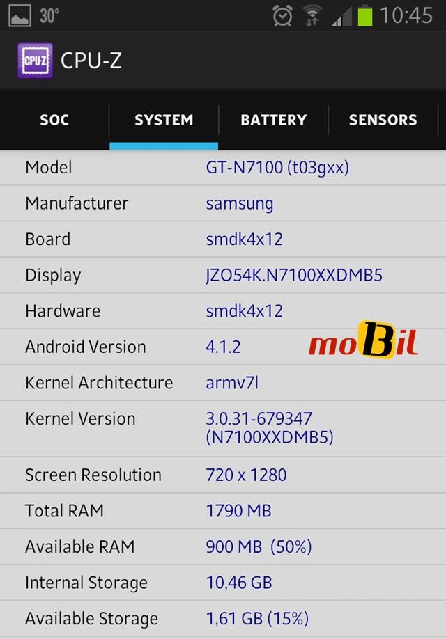 Android CPU-Z Sistem Bilgisi Uygulamasi - inceleme - mobil13 2
