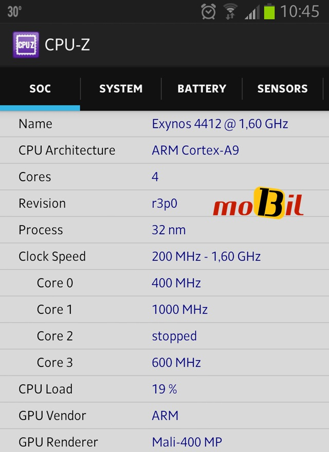 Android CPU-Z Sistem Bilgisi Uygulamasi - inceleme - mobil13