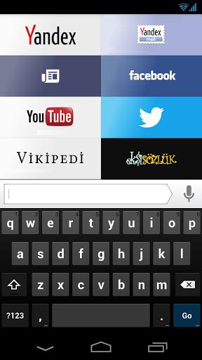 Android yandex browser ekran goruntusu