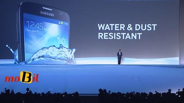 Samsung Galaxy S4 Active su ve toza karsi dayaniklilik