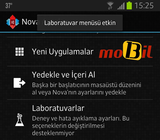 android nova launcher labs etkin mobil13