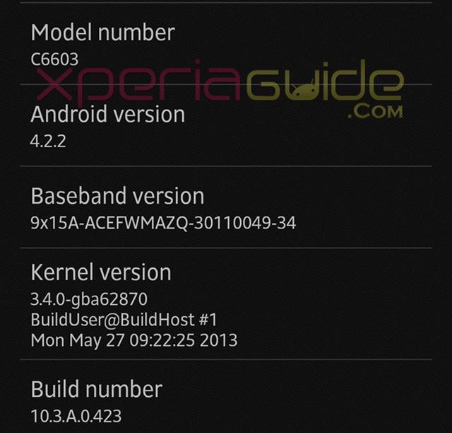sony xperia z android 4.2.2 ispanya