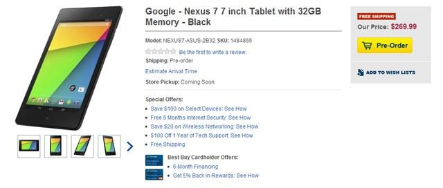 yeni nexus 7 best buy
