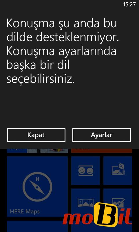 Nokia Lumia 520 konusma araci