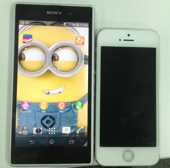 Sony Xperia Honami ve iphone