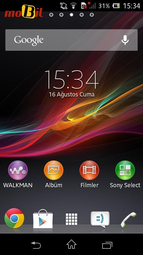 sony xperia l mobil13 ekran 1
