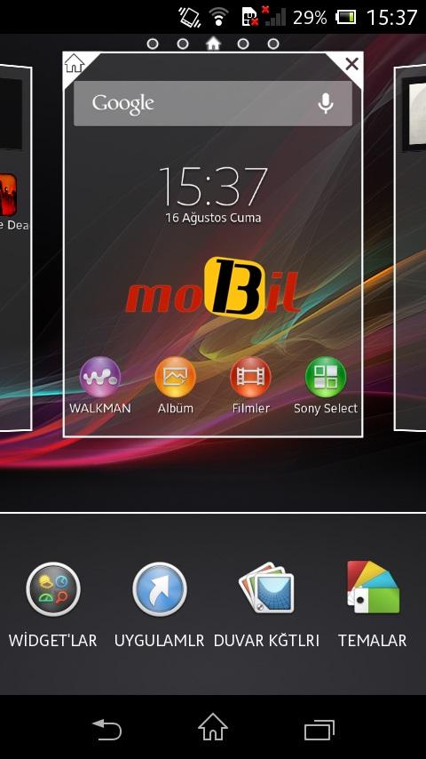 sony xperia l mobil13 ekran 7