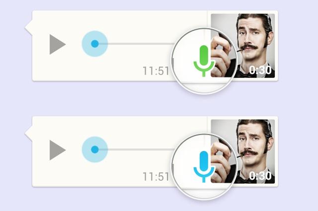 whatsapp sesli mesajlasma mikrofon rengi