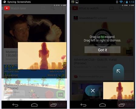 youtube android yeni