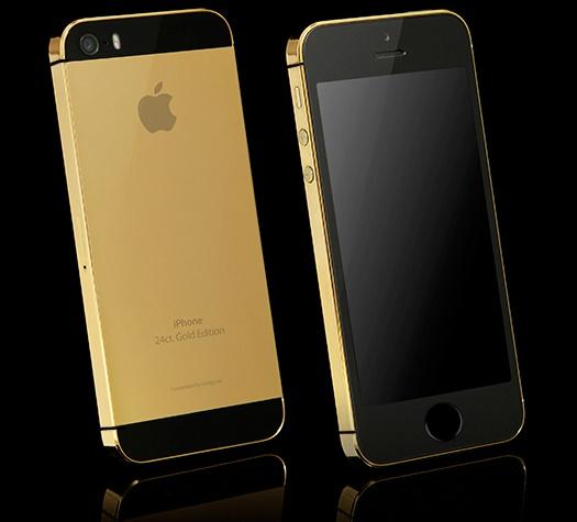 altin kaplama iphone 5s 24 ayar mobil13