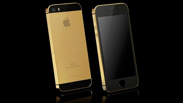 24 Karat Altın Kaplama iPhone 5S Satışa Sunuldu