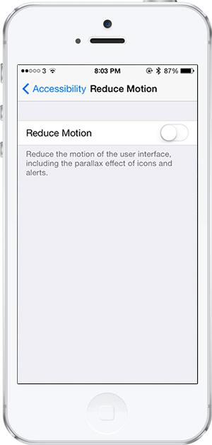 iOS 7 -10- hareketi azaltma