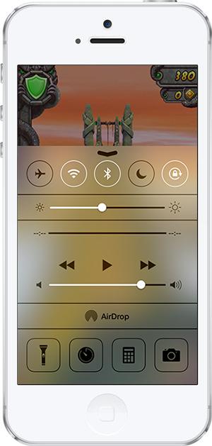 iOS 7 -11- kontrol merkezi