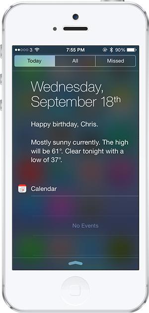 iOS 7 -12- dogum gunu