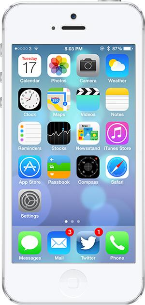 iOS 7 -9- metni kalinlastir