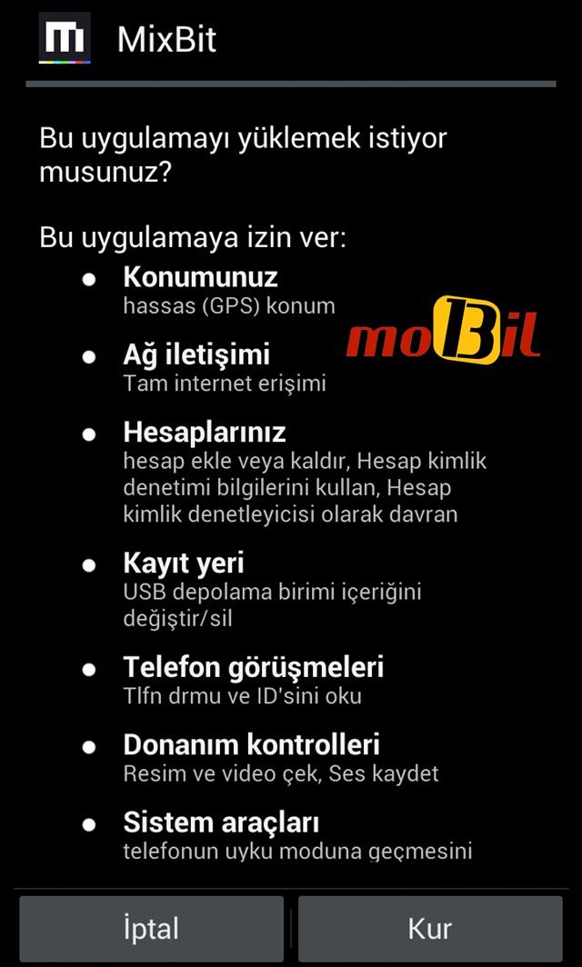 mixbit android izin