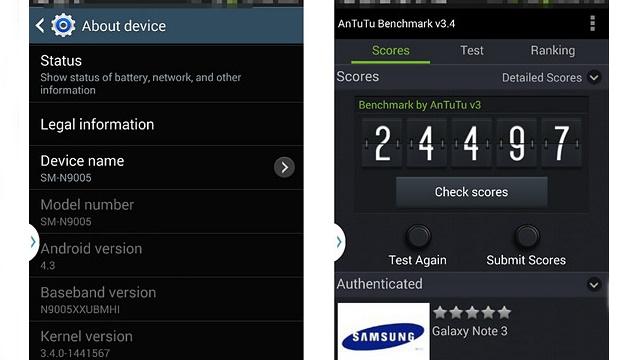 Samsung Galaxy Note 3'te Parmak İzi Algılayıcısı Bulunacak