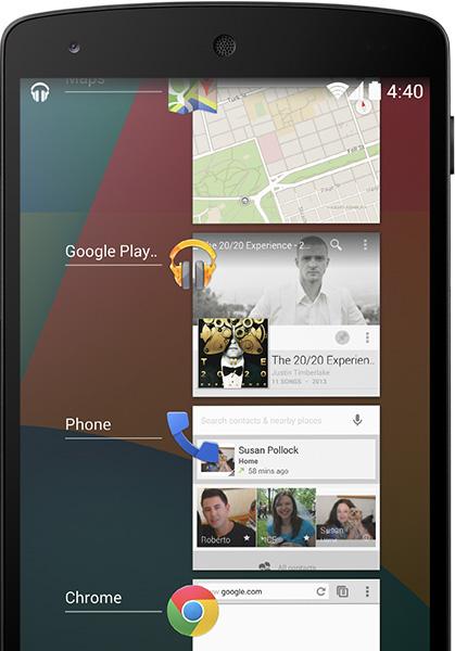 android 4.4 kitkat coklu gorev