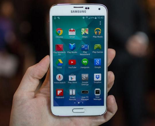 galaxy s5 ekran