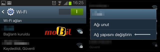 android ayarlar ve wi-fi secimi mobil13