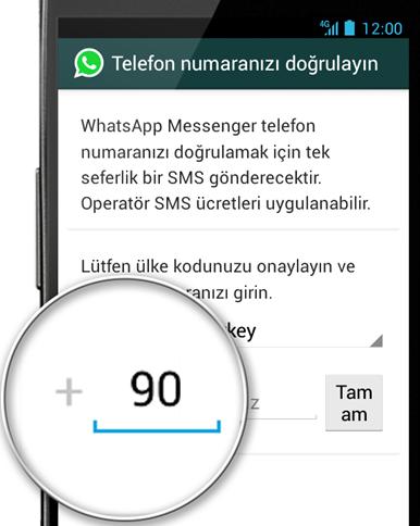 whatsapp numara dogrula