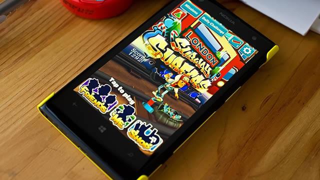 Windows Phone 8 için Subway Surfers 512 MB Güncellemesi