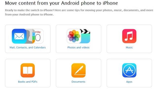 Androidden iPhonea gecme rehberi
