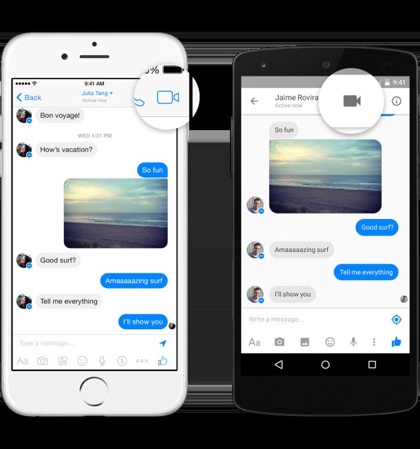 Facebook Messenger Görüntülü konuşma