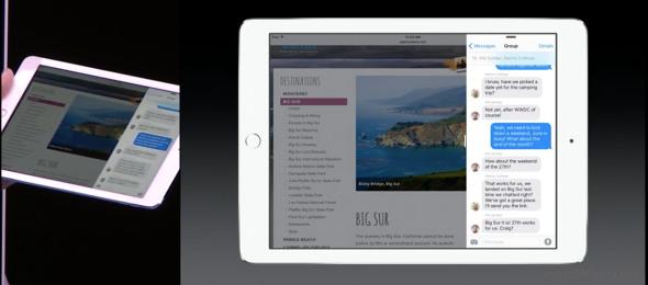 Apple iOS 9 slide over