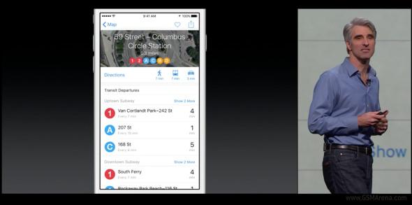Apple iOS 9 haritalar