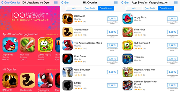 apple app store indirim