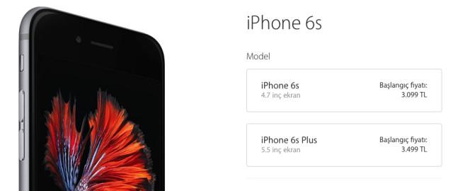 iphone 6S ve iPhone 6S Plus turkiye