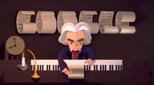 Ludwig van Beethoven için Özel Google Doodle Oyunu