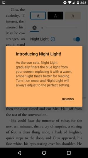 google play kitaplar gece isigi ile kitap okumak