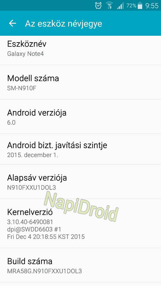 samsung galaxy note 4 android 6.0 guncellemesi