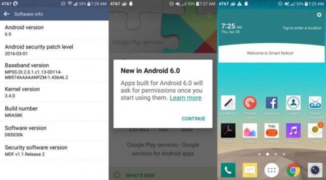 lg g3 android 6.0 marshmallow guncellemesi